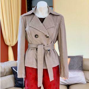 Michael Kors Tan Tie Waist Jacket Sz XL